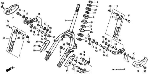 Genuine Honda Shadow 50 1998 Exhaust Muffler Complete Part 2