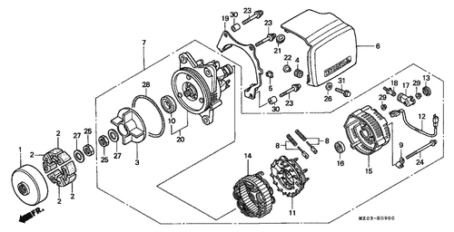 Genuine Honda Cr250r 1989 Clutch Cover Part 3 11342ks7701 110722