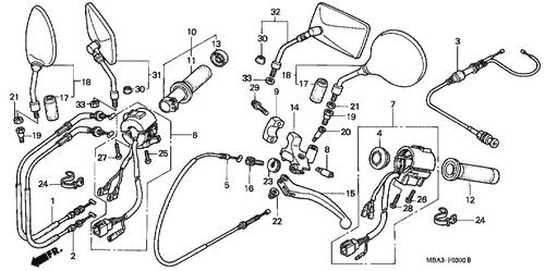 Genuine Honda Shadow 2001 Starter Kill Switch Set Part 6