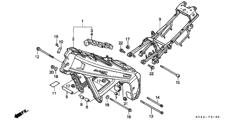 Genuine Honda NSR125R 1990 Special Bolt 6X16 Part 15
