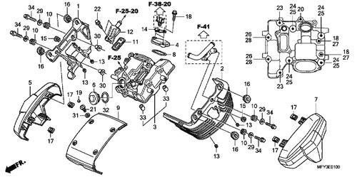 genuine honda vt1300cs abs 2011 steering head top thread b part 7  genuine honda vt1300cr abs 2010 sealing washer 10mm part 25 90403ml4610 (1757574)