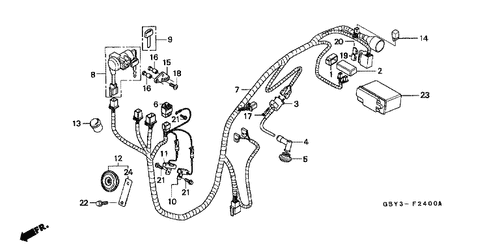 genuine honda scoopy 1998 c d i  unit part 2: 30410gby911 (1802172)