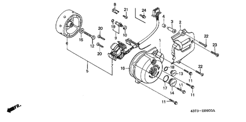 diagram genuine honda xl185s 1990 seat complete part 2: 77200kf9920  (1264378 on yamaha warrior stator