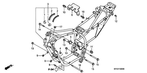 Genuine Honda Transalp 2010 Fuel Pump Assembly Part 1 16700mffd01