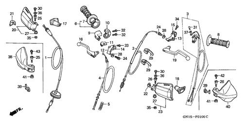 Genuine Honda Xr80r 2002 Left Handle Grip Part 8 53166430000 2311790 Nutjob