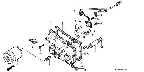 Genuine Honda NIGHTHAWK 1992 Gear Position Switch Assembly