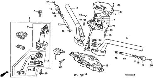 genuine honda revere 1991 fuse box cover part 8: 38210mw6600 (2077044) -  nutjob  honda parts