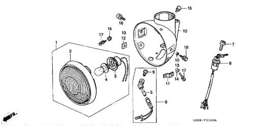Honda OEM Headlight Case Grommet 61305-333-010