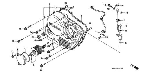 HONDA 22815-MG3-000 SPRING CLUTCH LEVER