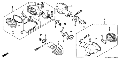 Genuine Honda Cbr600rr 2005 Fuel Pump Assembly Part 1 16700meed01
