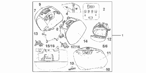 Genuine Honda Crossrunner 2012 Key Inner Kit Part 2