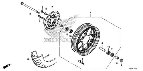 Genuine Honda MSX125 2013 Radial Ball Bearing 6301U (Nsk