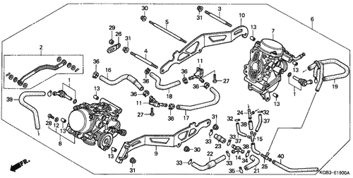 Genuine Honda Shadow VT125C 2001 Carburetor Assembly (Vpu3a A) Part