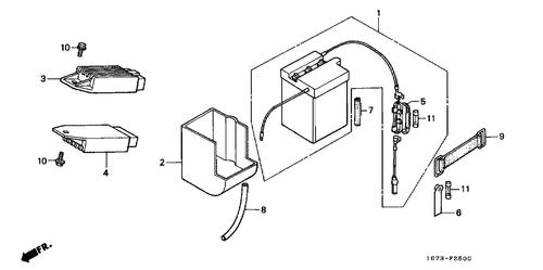 genuine honda mt50 1991 regulator rectifier complete part 4: 31600gk4761  (2338939)
