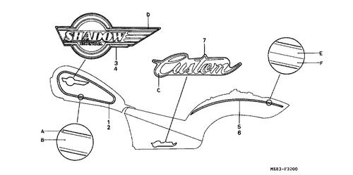 Genuine Honda Shadow 1994 Pad Nissin Spring Part 8 45108ml7922