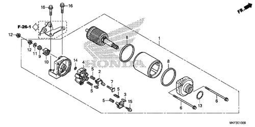 genuine honda cbr1000rr fireblade 2008 starter motor assembly part 1