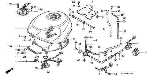 Genuine Honda VFR750F 1993 Fuel Manual Cock Assembly Part