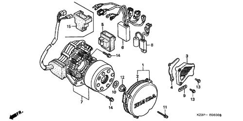 Genuine Honda Cr250r 2000 Drive Sprocket Cover Part 3 23810kz3861 595843 Nutjob