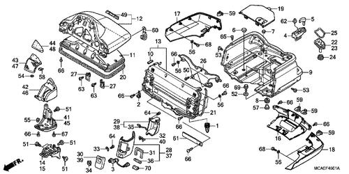 Honda OEM Part 82410-MCA-A60ZA