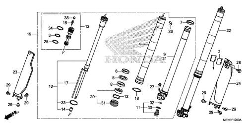Genuine Honda Crf450r 2013 Air Valve Assembly Part 15 51451mena71