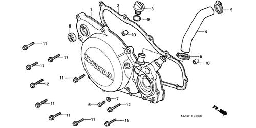 Genuine Honda Cr250r 1984 Right Crankcase Cover Complete Part 1