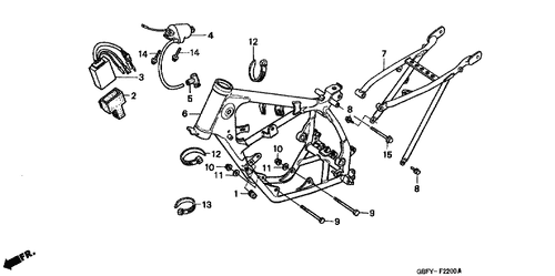Genuine Honda Cr80r 2002 Ignition Control Module Part 3 30410gbf831