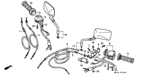 Genuine Honda Cb350s 1986 Throttle Cable Complete A Part 1