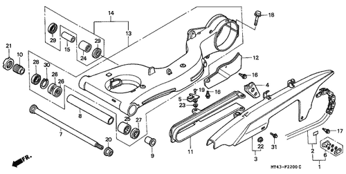 Genuine Honda VFR750F 1990 Fuel Manual Cock Assembly Part
