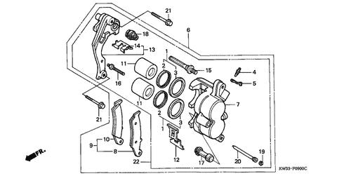 Genuine Honda Dominator 250 1989 Blade (15A) Fuse Part 23