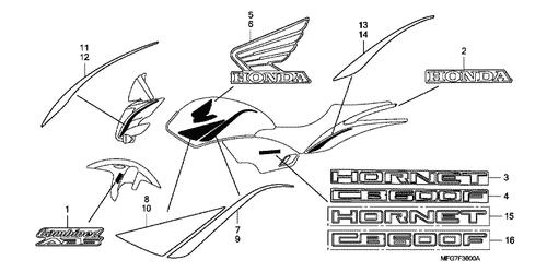 Genuine Honda CB600F Hornet 2007 Mini Fuse (Sumitomo