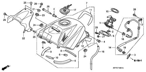 Genuine Honda Cbr125r 2007 Fuel Pump Assembly Part 1 16700ktyd31