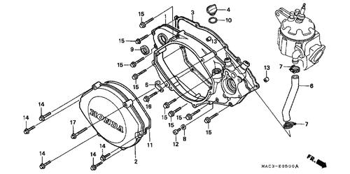 Genuine Honda Cr125r 1992 Water Pump Shaft Complete Part 5