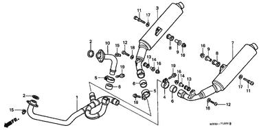 Genuine Honda Super Hawk 2000 Muffler Mounting Rubber Part