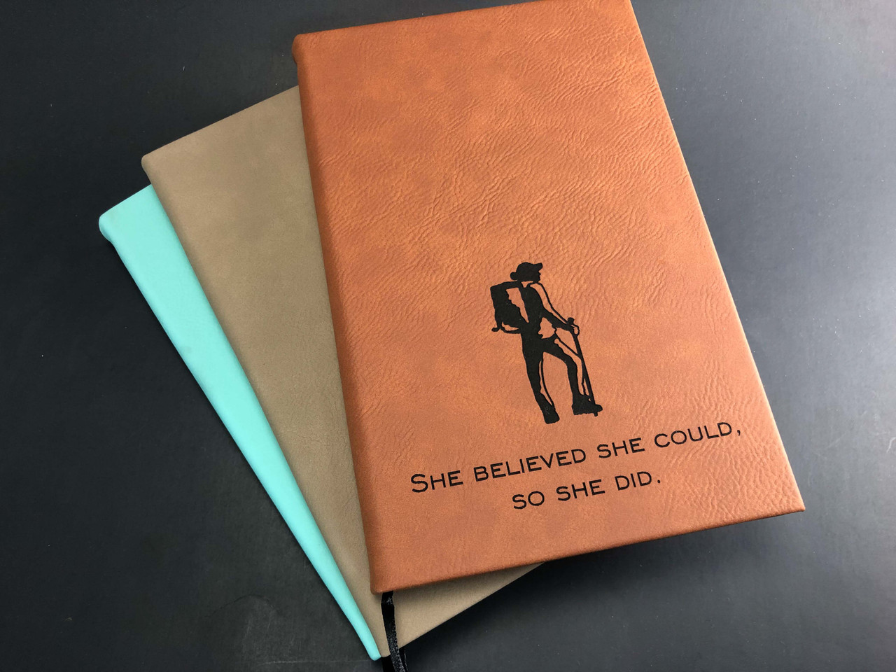 Hiker - She Believed She Could. So She Did - 112 Page Leatherette Journal
