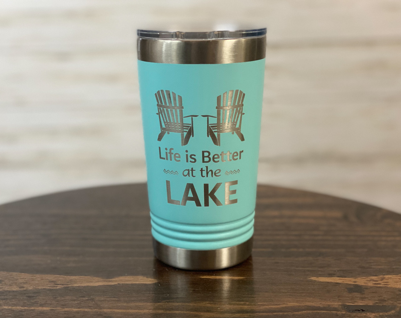 Life is Better at the Lake - 16 oz Polar Camel Insulated Pint