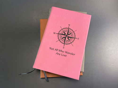 Compass Not All Who Wander Are Lost - 112 Page Leatherette Journal