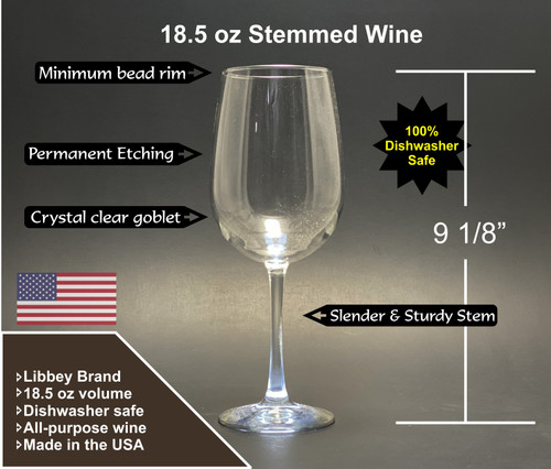 Raquette Lake - Stemmed Wine Glass 18.5 oz