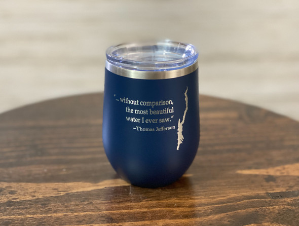 Lake George with Jefferson Quote -  12 oz  Insulated Tumbler
