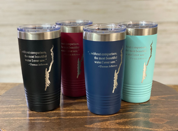 Lake George with Jefferson Quote -  20 oz  Insulated Tumbler
