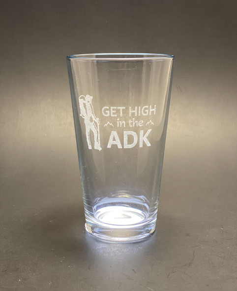 Hiking- GET HIGH in the ADK - Pint Glass