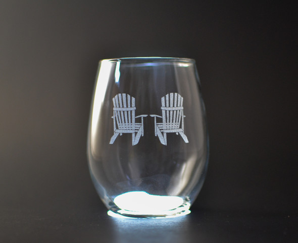 Adirondack Chairs - Stemless Wine Glass