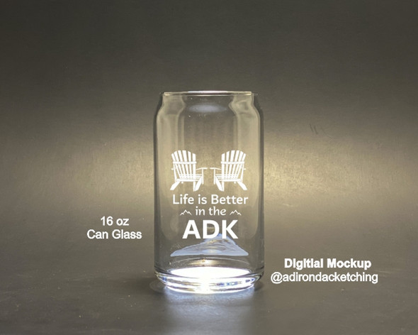Life is Better in the ADK - Can Glass