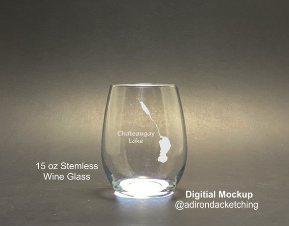 Chateaugay Lakes - Stemless Wine Glass