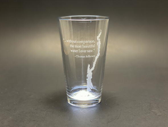 Lake George with Jefferson Quote - Pint Glass