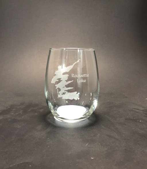 Raquette Lake - Stemless Wine Glass