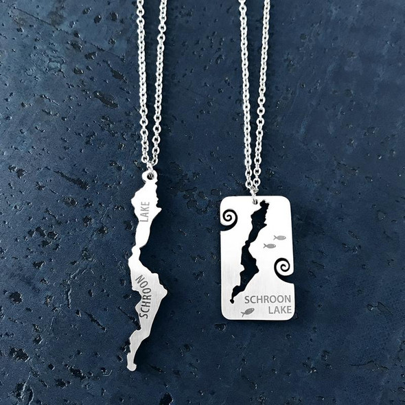 Schroon Lake Stainless Steel Necklace