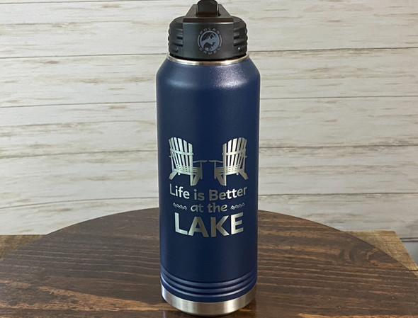 Life is Better at the Lake  - 32 oz Insulated Water Bottle