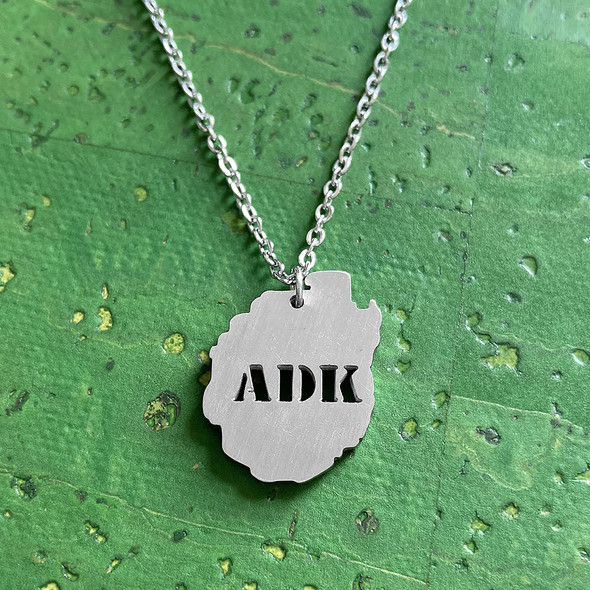 Adirondack Park ADK Stainless Steel Necklace