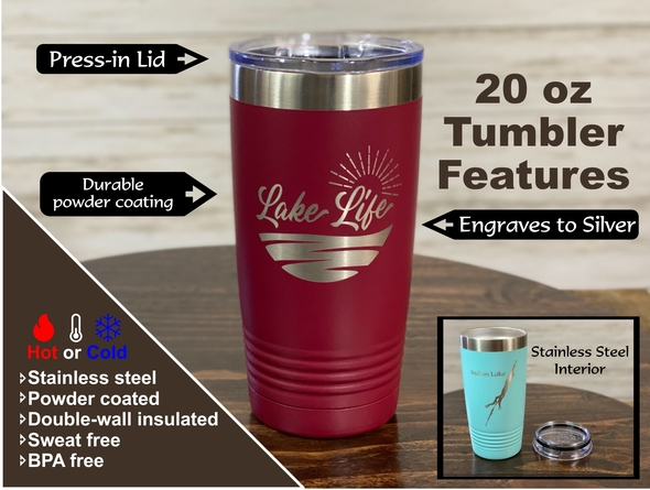 Russell Sage Alumnae - New Logo - 20 oz  Insulated Tumbler