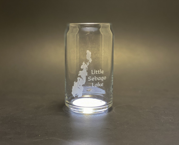 Little Sebago Lake - Maine - 16 oz Can Glass